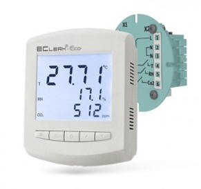 Измеритель регулятор качества воздуха и СО2 EClerk-Eco-RHTC