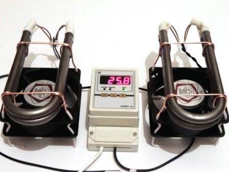 Термостат с 2-мя тепловентиляторами
