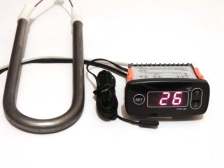 Терморегулятор СТЕ-102 с нагревателем (термостат) для обогрева погреба, омшаника