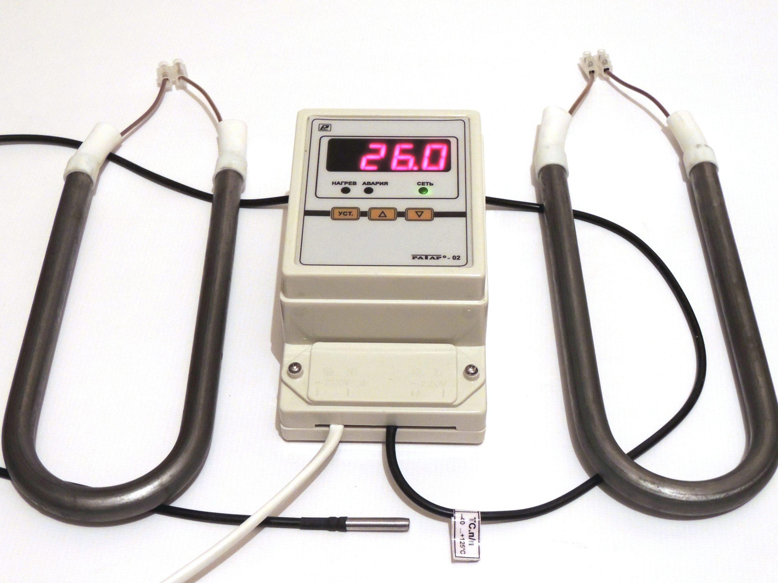 Терморегулятор с нагревателем (термостаты) для обогрева балконного погреба, ящика