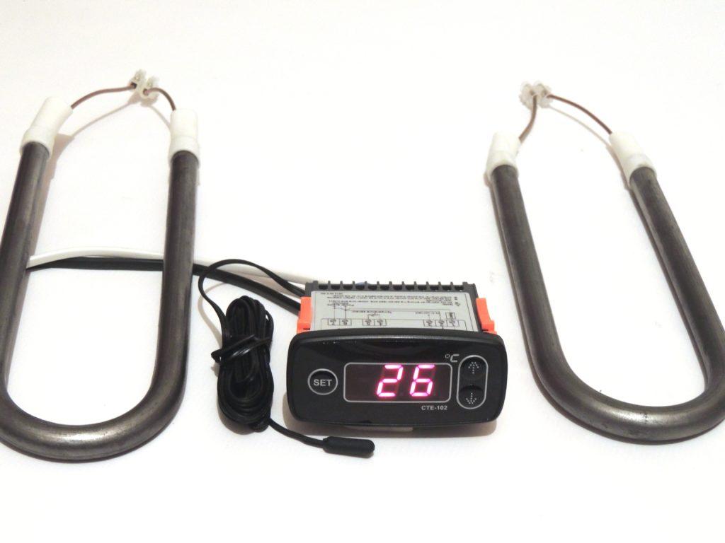 Термоегулятор СТЕ-102 с 2-мя ТЭНами