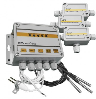 GSM термометр контроллер управления EClerk-Eco-3TL-GSM-0-2R-HP