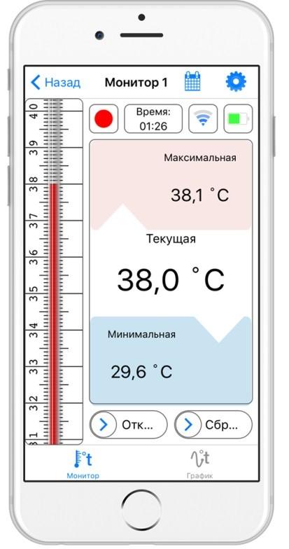 Беспроводной термометр щуп RELSIB WT51 (Bluetooth – термометр)