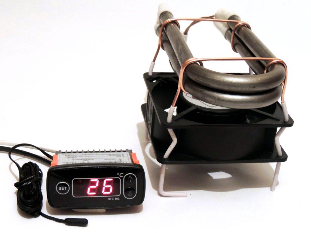 Терморегулятор СТЕ-102 с тепловентилятором 2х250 Вт
