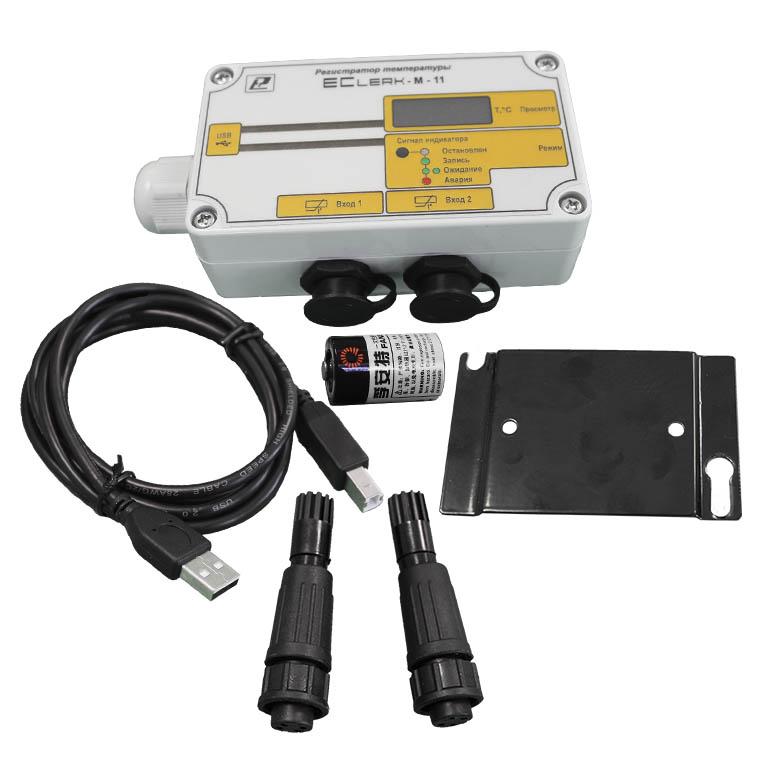 Терморегистратор для рефрижераторов EClerk-M-11-2Pt-HP-a-1 с распечаткой